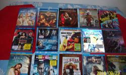 BLUERAY 10.00 DVDS 5.00 TV BOXSETS 10.00 CALL 613-799-4832 ALL IN MINT CONDITION SOME UNOPENED PRICES ARE LISTED BATMAN VS SUPER MAN BLUERAY, DVD 12.00 MONEY MONSTER BLUERAY 12.00 MIRACLE FROM HEAVEN BLUERAY, DVD 12.00 THE BOSS BLUERAY, DVD 12.00 ANGRY