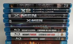X-MEN X-MEN 2 UNITED X-MEN 3 THE LAST STAND X-MEN ORIGINS WOLVERINE THE MUMMY THE MUMMY RETURNS THE MUMMY TOMB OF THE DRAGON EMPEROR OCEAN'S ELEVEN OCEAN'S TWELVE OCEAN'S THIRTEEN ALL OF THE ABOVE $5 EACH AVATAR (NEW, SEALED) $10 FOR QUICK REPLY PLEASE