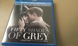 Blu-Ray/DVD Fifty Shades of Grey. Like new condition.