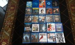 23 blu ray and 2 DvD's. several unopened. Selling 3 for 10$