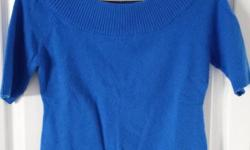 Cobalt Blue Angora Rabbit Hair/Nylon Dress Sweater Brand: Le chateau Size: Large