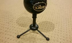 Blue Snowball Microphone Pro - excellent condition, used twice for online video recording. Switched to fiver as really don't like working with my own voice... Missing USB cable. Sells for $130 new. Here's the product description: Finally, a USB mic that's