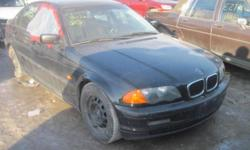 Bmw 2000 323i Parts Out. Black on black sports interior. Automatic. Theft recovery vehicle with complete front end. Lots of 323 model specific parts. All body parts will need paint.   Hood Front Bumper Rad Support Radiator Ac Condensor Auxiliry Fan