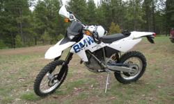 2009 BMW G450X, street legal, great condition, low mileage, lots of extra parts.