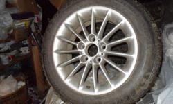 """Selling 4 BMW 16"""" wheels and winter tires. 2 are mounted with General Altimax Artic studded winter tires, only used two winters. The other 2 have all season tread. These are originally OEM 5 series wheels, although I was using them on my 3 series."""