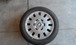 """Don't drive your luxury BMW with ugly steel rims! Four (4) Pirelli Winter 210 Snowsport wheels (tires, rims and hubcaps). Specs: 205/55 R16 91H 16"""" steel rims Off BMW 325 ci, driven approx. 2000km, purchased new Oct 2010 (Town & Country BWM Markham) Car"""