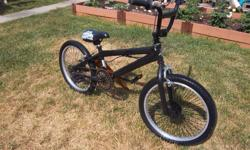 """BMX bicycle for sale. 20"""" wheels. Front brakes only. Pegs available. Only $130. We are located in Orleans. See our list of other items for sale. First come, first served."""