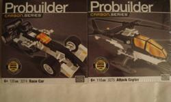 From smoke/pet free house Brand New toys for sale, price is FIRM. Pct 1-2 ? BN Unopened Mega Bloks PROBUILDER Carbon Series: Race Car (120 pcs) & Attack Copter (110 pcs) ? 8$FIRM Pct 3-4 ? BN Unopened Bionicle KALMAN (53 pcs) ? 6$FIRM PICK-UP ONLY, cash