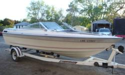 1987 20' Doral Classic bowrider 4.3L V6 OMC Cobra Boat has been well cared for and stored indoors Travel & camper tops both included. Sony CD player & speakers.   EZ Loader trailer available for $ 1500   Wakeboard / Ski Tower with lights& speakers can be