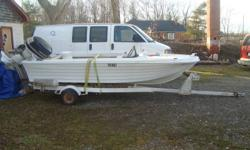 boat ,trailer ,and jonson 40 ,runs ,with ownership 450 firm,