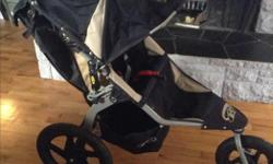 In great conditon. An awesome stroller. Black/Tan. Great for an active family that likes the outdoors. Great for jogging as well. Yours for 250$