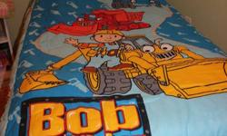 Bob the builder bedding set.  Comforter, and sheet set.  Smoke free home, great condition