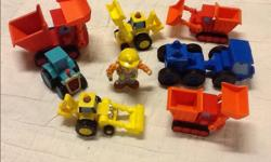 Daycare closing. 8 pce set of Bob the Builder. $7