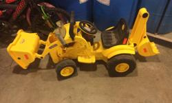 Battery operated plays bob the builder song. Needs new battery in order for it to drive