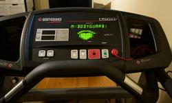 BODYGUARD T280 Treadmill. Solid commercial-grade machine in excellent working condition. Bought in Oct 2005 and has been used mostly for light to brisk walking. Includes a built in Heart Rate Sensor and features a variety of exercise programs and levels.