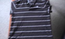 striped polo shirt size xl