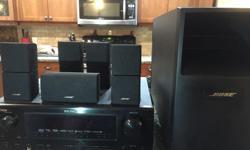 Bose surround sound 5.1 with Denon AV surround receiver AVR - 888