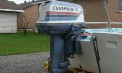 13.5 ft. Boston Whaler ,, 35 HP motor , comes with trailer,.  If Interested please call ..705-253-5680.