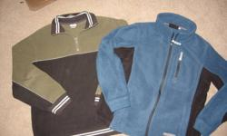 For Sale:   Boy's sweatshirts -  Size 14/16 -  Two Toned Green 1/4 Zip   -  Cherokee -  Blue Full Zipper w/t pockets  -  BD ** Like New **   $10.00 for BOTH   Located South East Barrie Non-smoking home
