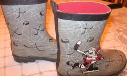 "Boys ""47 Hockey"" rainboots Size 1 No longer fit my son - used ONLY a handful of times Good condition $10 Can meet in west end of ottawa (kanata) or pickup in Constance Bay"