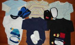 I have for sale some baby boy clothes size 6-12 months.  They are all very clean (no stains, rips or visible signs of wear) and they come from a clean and smoke free home.  These were worn by a boy born in the month of June to give you an idea of the size