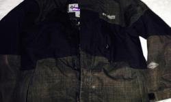 Boys Size medium (8) great condition. Smoke free and pet free home. Color: black and dark grey.