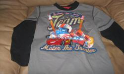"Boys DISNEY Cars - Long-sleeve top Size 8 Brand - Disney Cars Says"" The Greatest Tour on Earth! Team - Mater the Greater!! In new condition ONLY $10 Can meet in west end of ottawa (kanata) or pickup in Constance bay"