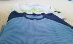 Both shirts are a size 10,blue one is from the GAP,grey is Nike.Both for $7.00 or $3.50 each.Check my other ads as well