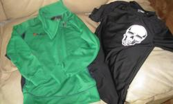 Boys size 10 1 green long-sleeve top Brand - LEGEA Sportswear Size 10 AND/OR 1 black short-sleeve top Brand - OLD NAVY Size 10/12 $10 each ($20) OR get BOTH for ONLY $15 (works out to be $7.50 each) Can meet in west end of ottawa (kanata) or pickup in