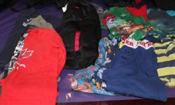 BOYS SIZE 6 CLOTHES 3 P JS PANTS 5 2PC SET P JS 2 WARM UP JACKETS 4 LONG SLEEVE SHIRTS 1 SHORT SLEEVE SHIRT GOOD CONDITION