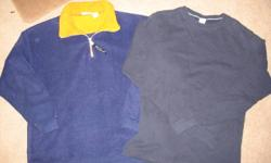 For Sale:   Boys Sweatshirt & Long sleeve  -  size XL  (18) -  Blue Fleecy w/t Orange Cooar   -  Max Active -  Blue Lightweight Longsleeve      -  Old Navy   $5.00 for BOTH   Located South East Barrie Non-smoking home