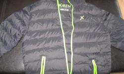 Boys' XMTN jacket with hood Size 7/8 Color - Black/with green Shell - 100% Nylon Lining - 100% Nylon Insulation - 80% Down 20% Waterfowl feathers No longer fits son! $20 Can meet in west end of ottawa (kanata) or pickup in Constance Bay