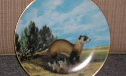 """PLATE SET MUST GO. I'm offering Bradford Exchange Collectable Plates for sale AS A SET! Set has  certificates of authenticity included. Original retail value of each plate was $45.-$50. Set: """"Last of Their Kind / Endangered Species"""" Series 10 plates in"""