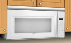 Brand Name 1.6 cu. ft. over the Range Microwave White Whirlpool YWMH1162XVQ A 2-speed hood fan system beneath this 950 Watt microwave helps to keep kitchen air fresh. Take the guesswork out of microwave operation thanks to the Auto cook, defrost and