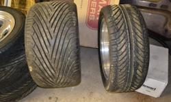 For sale a set of four tires and rims for your GM muscle car, these are brand new tire and wheels and have never seen the road, they are American racing Ansen sprint wheels, the rears are custom widened by Greens automotive to 17x11inch with 315 wide