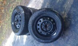 """I have 4 winter tires, brand new, used 5 000 Km's only with steel rims. 205/65/15"""" . They were at honda accord car. They're in awesome and great condition. Come and have a look Contact me at: (519)760-2400 Thank you"""