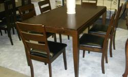 More pictures please visiting our website: www.homemay777.com Free delivery within 24 hours when you order, usually in the same day. David 647-298-5999 DT3090--$289( 1 table and 6 leather chairs) DT2279--$329(SOLID WOOD, 1 table and 4 chairs)