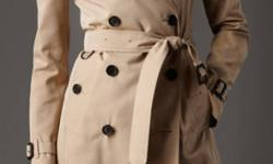 Brand New Authentic BURBERRY TRENCH Coat EXTREMELY RARE & TINY SIZE 0 SLIM / NARROW / SMALL FITTING and PETITE FRIENDLY FIT! Rich looking coat will transition from day to night effortlessly, and will not require frequent trips to the dry cleaner. Made in
