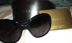 BRAND NEW AUTHENTIC GUCCI SUNGLASSES SOLD IN GUCCI STORE FOR $300 My mother bought these sunglasses as a gift for me a few months ago but it doesn't suit my face, they are very beautiful glasses and 100% authentic. They come with a beautiful Gucci case as