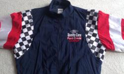 Size Small.... Ideal for Girlfriend, wife, children....very nice looking and colourful. Looks nice on....great colours... Great accessory to wear to all of Victoria's car events...