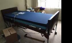 New hospital bed. Delivered on June 22, only 3 weeks old. Fully electric, adjustable for height as well as incline for head and feet. VITACARE V6 VISCO 36x80 Pressure Reduction Mattress. Also includes a pair of half-length side rails Original price