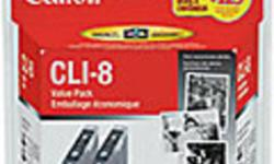 Brand new in factory sealed box Canon CLI-8 BK black Twin Value Pack cartridge for PIXMA iP4200 PIXMA iP4300 PIXMA iP5200 PIXMA iP5200R PIXMA iP5300 PIXMA iP6600D PIXMA iP6700D PIXMA MP500 PIXMA MP530 PIXMA MP600 PIXMA MP800 PIXMA MP830 PIXMA MP950 FREE