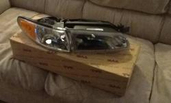 A pair of Brand New in the box head lamps for a Pontiac Grand Prix 1997 to 2003 model. Paid $425 and selling for $250 O.B.O You will get them in the box they came in. Includes left and right headlamps. email me, text me or call me if you are interested