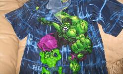 BRAND NEW Incredible Hulk short-sleeve top - Size 6 Bought for son but never got to wear & now into next size!!!! - 100% polyester Comes with Incredible hulk toy figure Can meet in west end of ottawa (kanata) or pickup in Constance Bay