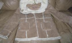 BRAND NEW - LIV A LITTLE Childrens FAUX SUEDE jacket Beige in Color Size 8 Absolutely gorgeous jacket Letting go for ONLY $15 EXCELLENT PRICE Can meet in west end of Ottawa (Kanata) or pickup in Constance Bay