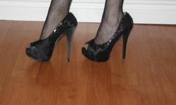 """never worn, only tired on wild diva lollipop heels 5.75"""" heels perfect for parties beautiful gift asking $45 obo i am trying to raise $$ for school so please check out some of my other items thx"""
