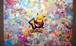 I have a Brand New Pokemon Sticker for sale! This shows most if not all Pokemon characters and is in excellent condition and would look great in your child's room or to give as a gift. The dimensions are approximately 16 inches long by 10.8 inches wide.