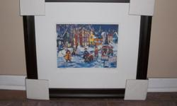 new price 06/01/16 VERY BEAUTIFUL PRINT BY KATERINA MERTIKAS.BOLD COLOR REPRESENTING YOUNG HOCKEY PLAYERS IN THE OLD CITY, GREAT ADDITION FOR A YOUNG HOCKEY PLAYER OR FOR THE YOUNG AT HEART.SURE TO BRING SUNSHINE IN ANY ROOM.RECEIVED A DUPLICATE AS A