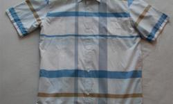 This Quiksilver plaid short sleeve shirt is brand new without the tags and has never been washed and/or worn. It is a men's size large. If this ad is still up, the shirt is still available. Please have a look at the list of my other ads by clicking on the