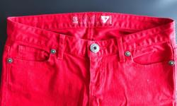 Brand New Red GUESS Women's Jean, Size 28